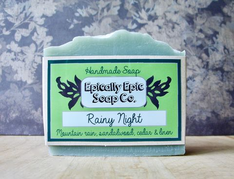 Rainy,Night,Cold,Process,Soap,-,Vegan,Handmade,Bath_And_Beauty,soap,cold_process_soap,handmade_soap,epically_epic_soap,bar_soap,natural_soap,vegan_soap,gift_soap,summer_part_2,rain_scented,rain_soap,sandalwood_cedar,cedar_soap,olive oil,organic palm kernel oil,castor oil,sodium hydroxide,water,fr