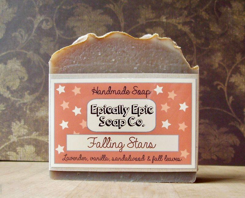 Falling Stars Cold Process Soap - Vegan Handmade Soap - product image