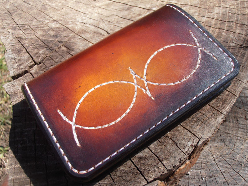 Front Pocket Card Wallet, Western Wallet, Minimalist Wallet, Simple Wallet, Leather Wallet. Men's Leather Wallet - product images  of