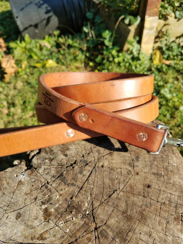 "Harness Leather Lead 1"" Large Breed Leash Big Dog Leash 6' - product images  of"