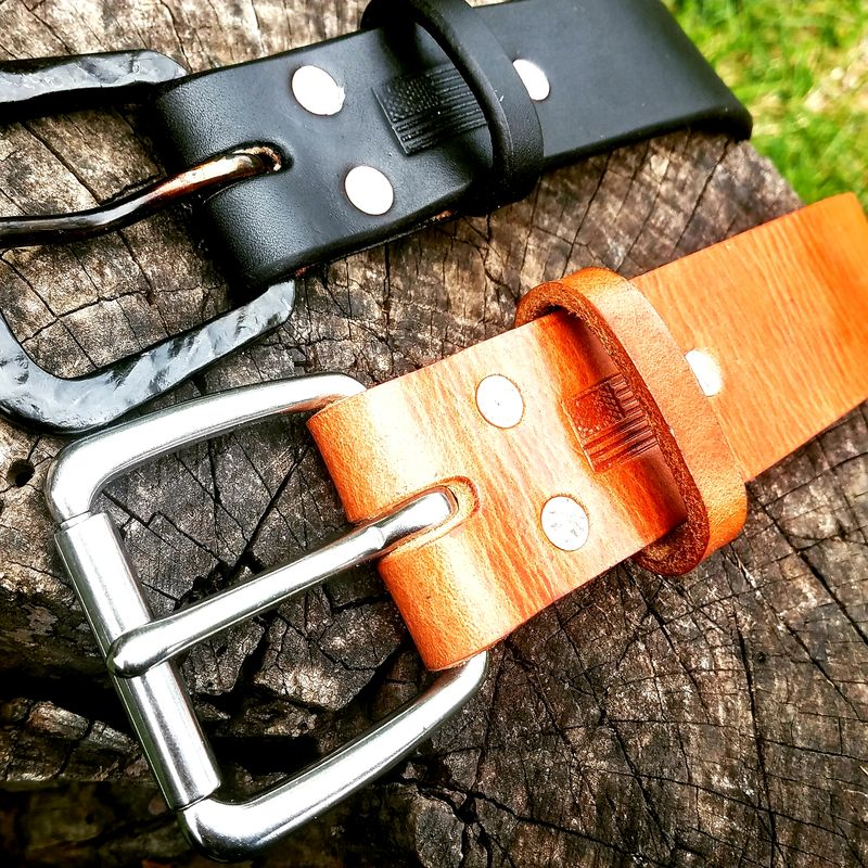 "Second Quality Clintonville Leather 1 1/2"" Work Belt, Men's Leather Belt,Full Grain Belt, Harness Leather Belt - product images  of"