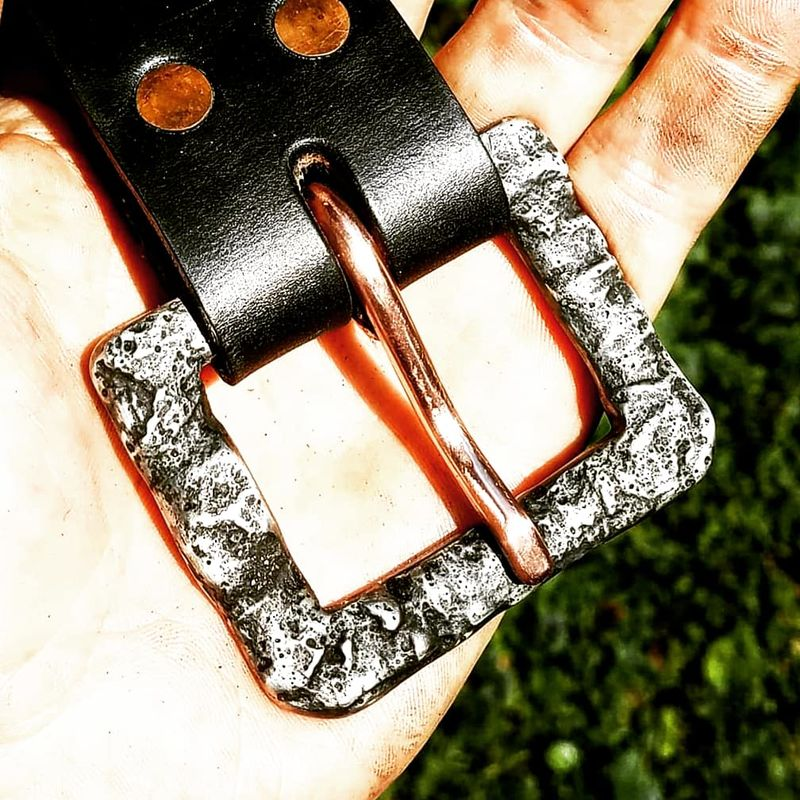 Hand Cast Pewter Buckle Belt - product images  of