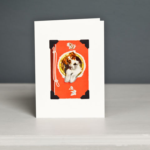 Wire,Fox,Terrier,Greeting,Card,Fox Terrier Card, Fox Terrier Vintage Playing Card, Wire Fox Terrier Card