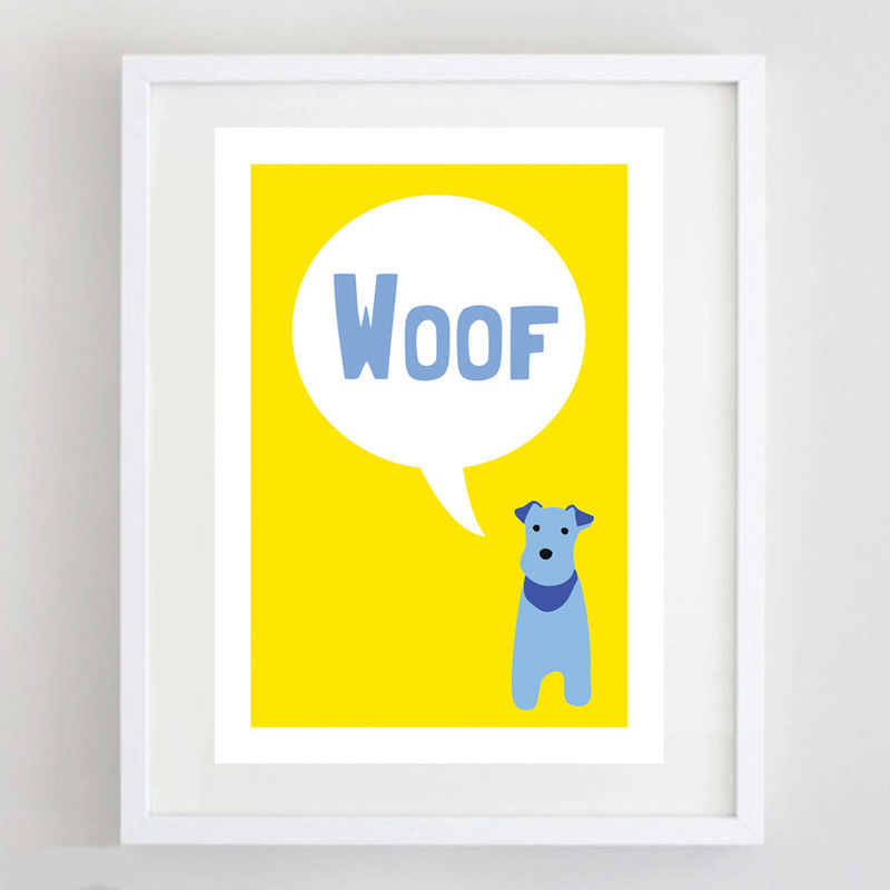Woof Dog Print - product image