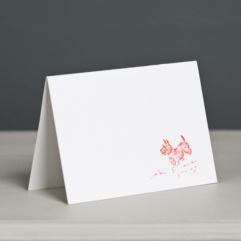 Scottish Terrier Letterpress Card - product image