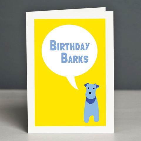 Birthday,Barks,Greeting,Card,Dog Birthday Card, Terrier Birthday Card, Birthday Barks Card, Fox Terrier Card, Wire Fox Terrier Birthday Card