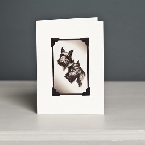 Scottish,Terrier,Card,Scottish Terrier Card, Scottie Card, Scotty Card, Scottish Terrier Vintage Playing Card
