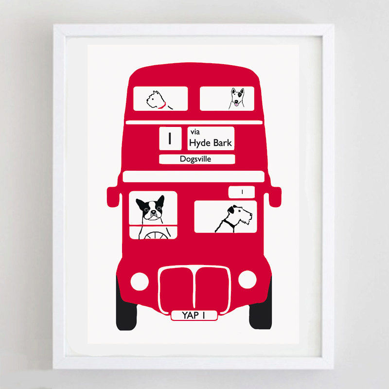 Terrier London Bus Print  - product image