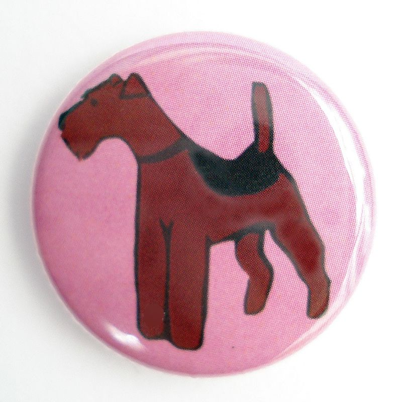 Airedale  /  Welsh Terrier Badge - product images  of