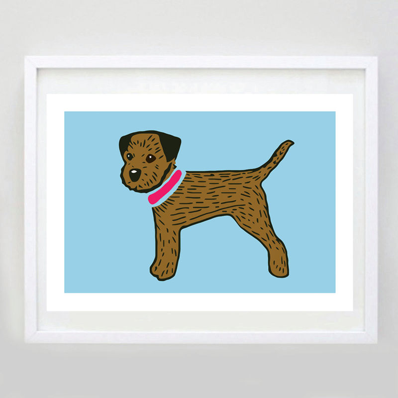Border Terrier Print - Personalisation option - product images  of