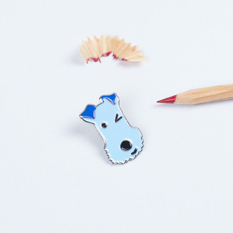 Winking Dog Enamel Lapel Pin - product images  of