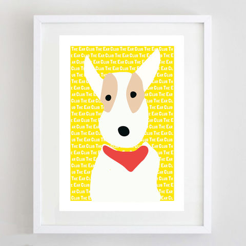 The,Ear,Club,Print,The Ear Club Print, Wire Fox Terrier Print, Fox Terrier Gift