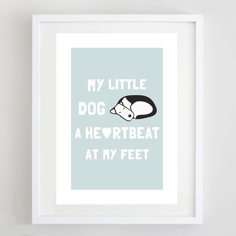 My Little Dog Print - product image