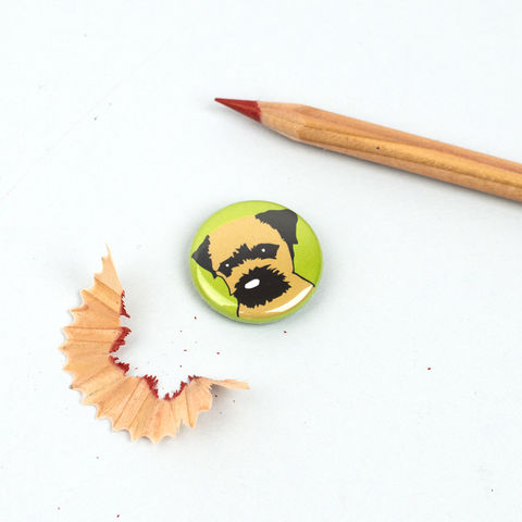 Border,Terrier,Badge,Border Terrier Badge, Border Terrier Pinback Button