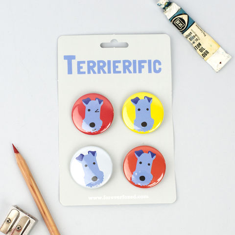 Fox,Terrier,Badges,Fox Terrier Badges, Wire Fox Terrier Badges, Fox Terrier Pinback Buttons
