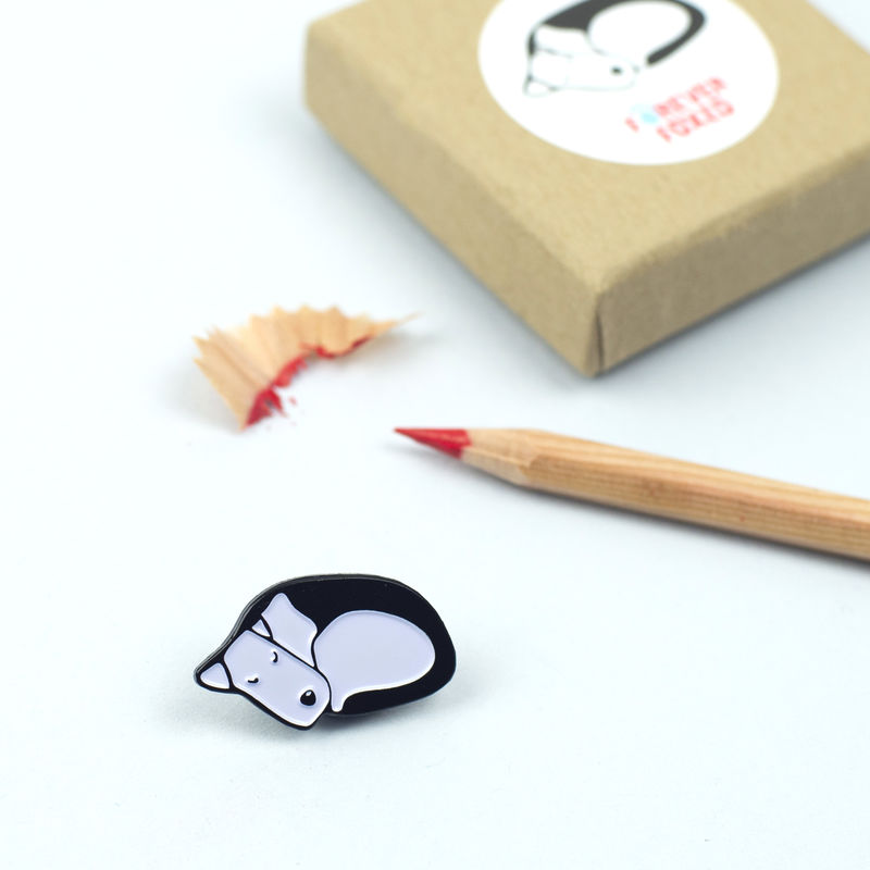 Sleeping Dog Enamel Lapel Pin - product images  of