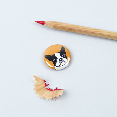 Boston,Terrier,Badge,Boston Terrier Badge, Boston Terrier Pinback Button