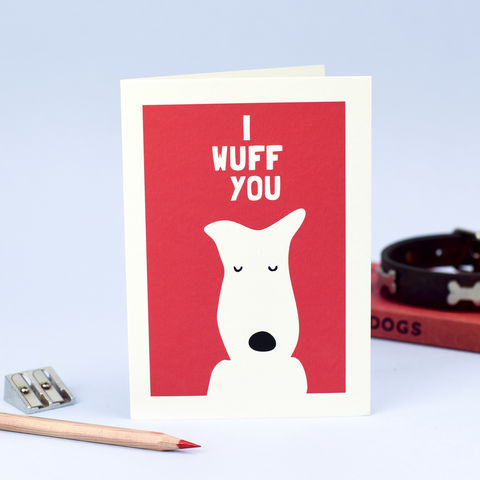 i wuff you card - Dog Valentines Day Cards