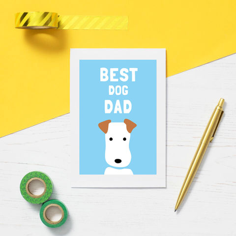 Fox,Terrier,Father's,Day,Card,Father's Day Card, Fox Terrier Card, Best Dog Dad Card