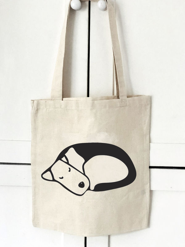 Sleeping Dog Tote Bag - product image