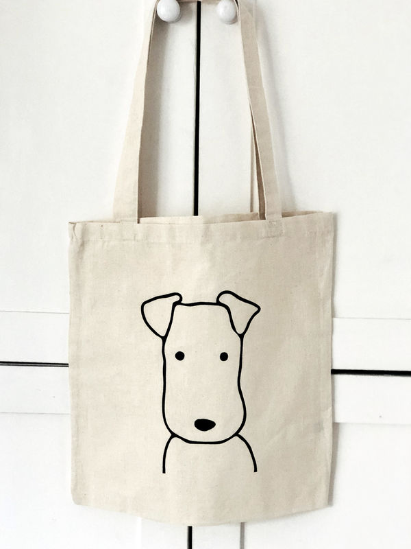 Terrier Head Tote Bag - product image