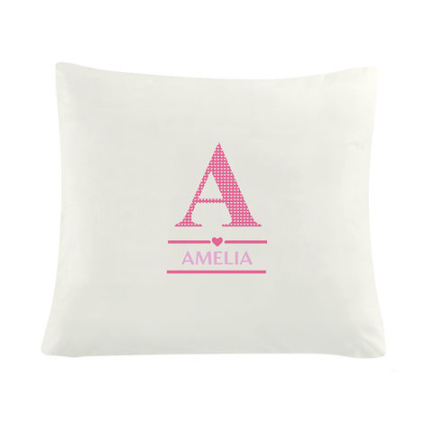 Girls,Initial,Cushion,Cover,Girls Initial Cushion Cover,persoanlised Cushion cover,girls cushion cover,cushion covers