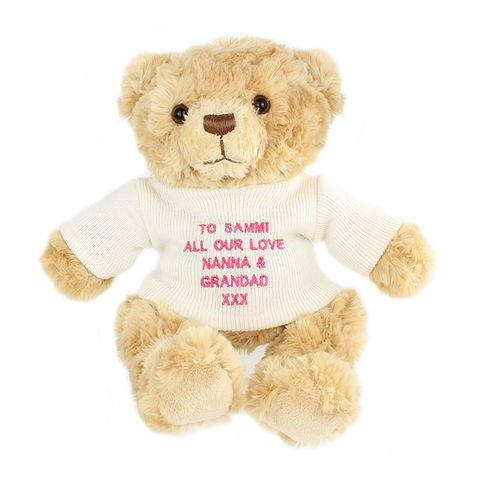 Pink,Teddy,Message,Bear,Pink Teddy Message Bear,Pink Teddy,Teddy Bear,Teddies,Personalised Teddy,Girls Teddy