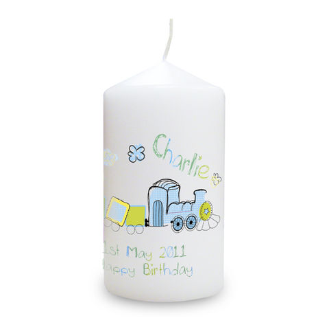 Patchwork,Train,Candle,Patchwork Train Candle,Child's Gift Candle,Childrens Gift Candle