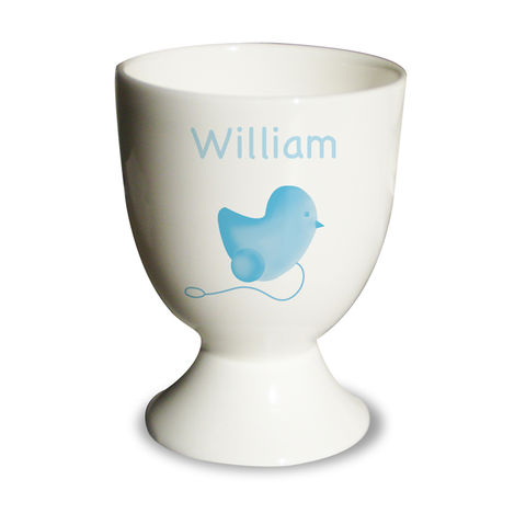 Blue,Chick,Egg,Cup,Blue Chick Egg Cup,blue personalised egg cup,childs egg cup,childs blue egg cup