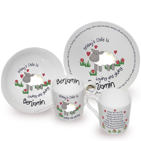 Fridays,Child,Breakfast,Set,Fridays Child Breakfast Set,personalised breakfast set,childrens breakfast set