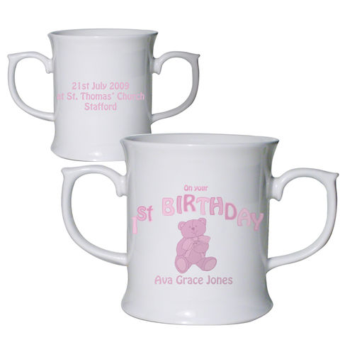 Teddy,Pink,1st,Birthday,Loving,Mug,Teddy Pink 1st Birthday Loving Mug,ist birthday mug,girls ist birthday mug,ist birthday gifts,girls ist birthday gift,childs ist birthday gift,first birthday gift for girls