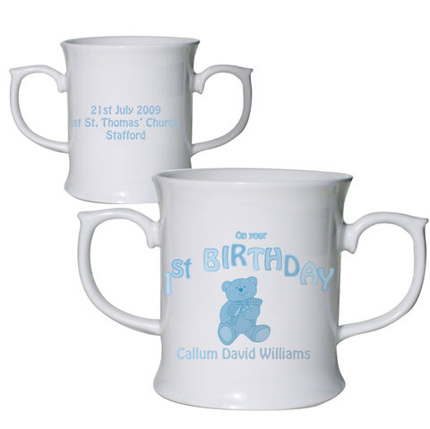 Teddy,Blue,1st,Birthday,Loving,Mug,Teddy Blue 1st Birthday Loving Mug,ist birthday mug,boys ist birthday mug,first birthday mug,boys first birthday mug,personalised first birthday mug