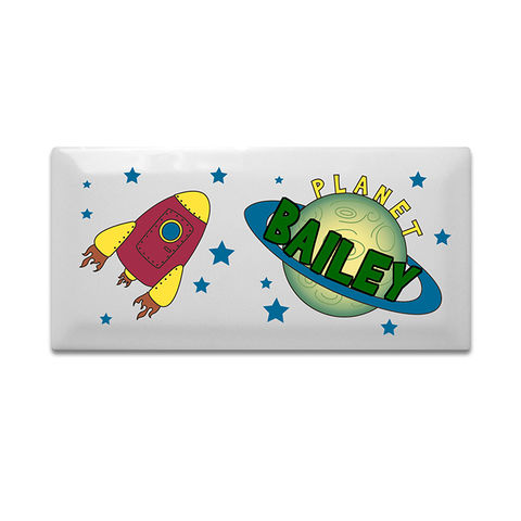 Space,Door,Plaque,Space Door Plaque,door plaque,personalised door plaque,childs door plaque,childrens door plaque