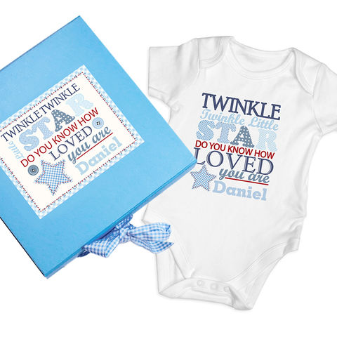 Twinkle,Boys,Blue,Gift,Set,-,Baby,Vest,Twinkle Boys Blue Gift Set - Baby Vest,boys blue vest gift set,boys blue personalised gift set,vest gift set