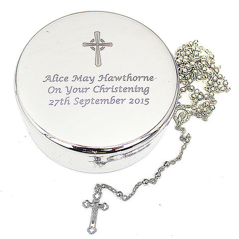 Rosary,Beads,and,Cross,Round,Trinket,Rosary Beads and Cross Round Trinket,rosary beads,personalised rosary beads,christening rosary beads,keepsake rosary beads