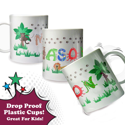 Animal,Alphabet,Plastic,Cup,Animal Alphabet Plastic Cup,drop proof plastic cups,personalised plastic kids cups
