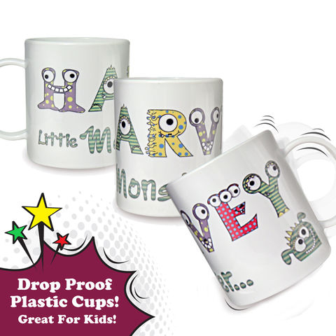 Monster,Alphabet,Plastic,Cup,Monster Alphabet Plastic Cup,childs plastic cup,kids plastic cups