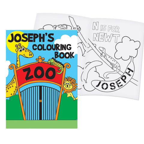 Zoo,Colouring,Book,Zoo Colouring Book,childs colouring books,children colouring books,personalised colouring books