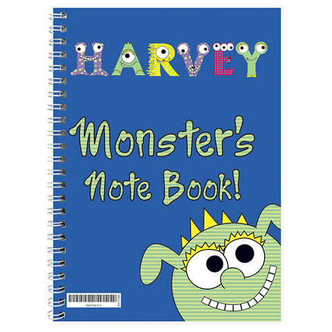 Little,Monster,A5,Notebook,Little Monster A5 Notebook,childs notebook,childrens notebook,personalised notebooks