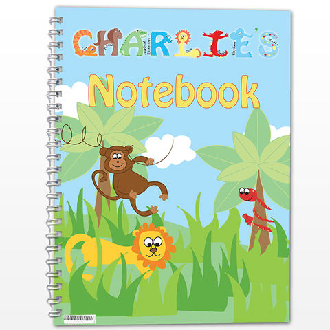 Animals,-,A5,Notebook,Animals - A5 Notebook,childs notebook,childrens notebook,personalised notebook