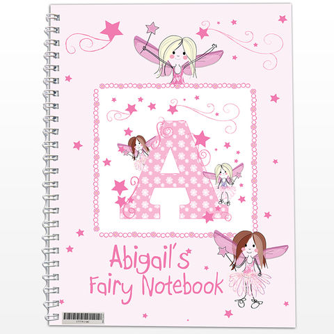 Fairy,-,A5,Notebook,Fairy - A5 Notebook,notebook,childs notebook,personalised childs notebook