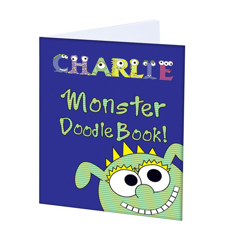 Little,Monster,-,A4,Scrapbook,Little Monster - A4 Scrapbook,childs scrapbook,personalised scrapbook,activites sets,activity books,scrapbook,free postage