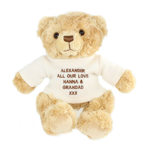 Cream,Teddy,Message,Bear,Cream Teddy Message Bear,teddy bear,personalised teddy bear,childs teddy bear,childrens teddy bear