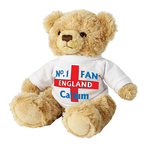 No1,England,Fan,Message,Bear,No1 England Fan Message Bear,message bear,message teddy bear,personalised teddy bear