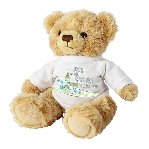 Blue,Church,Message,Bear,with,T-Shirt,Blue Church Message Bear with T-Shirt,Children Gift Ideas,Baby Gift Ideas,Children Keepsakes,Baby Keepsakes,Personalised Baby Gifts,Personalised Childrens Gifts