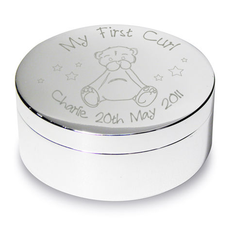 Teddy,My,First,Curl,Trinket,Teddy My First Curl Trinket,trinket box,personalised trinket box,curl box,first curl box