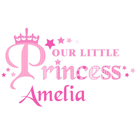 Our,Little,Princess,Wall,Art,Our Little Princess Wall Art,girls bedroom wall art,girls personalised wall art,girls bedroom decor