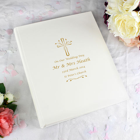Traditional,Photo,Album,-,Gold,Cross,Gold Cross Traditional Photo Album,Cross traditional photo album,Gold traditional photo album