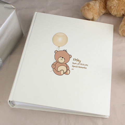 Teddy,Traditional,Album,Teddy Traditional Album,photo albums for new borns, photo album for christenings,phoeo album for naming days, photo albums for first baby,