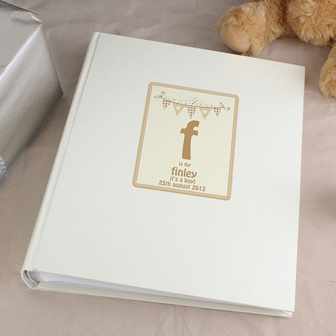 Cute,Bunting,Traditional,Album,Cute Bunting Traditional Album,new born photo album,christening photo album,first birthday photo ablum,naming day gift, childs birthday gift